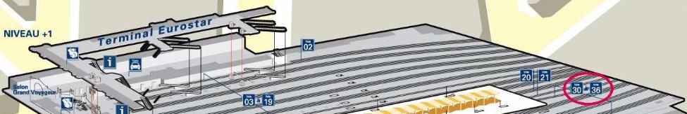 Plan niveau 1 gare du Nord
